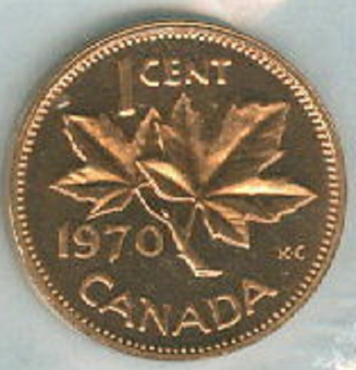 1970 Pl Proof Like Penny 1 One Cent 70 Canada Canadian Bu Coin Unc Ebay