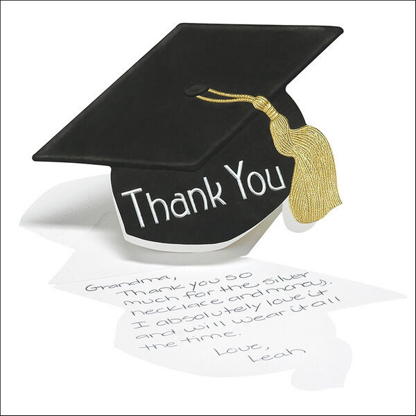 50 graduation hat thank you cards notes high school or