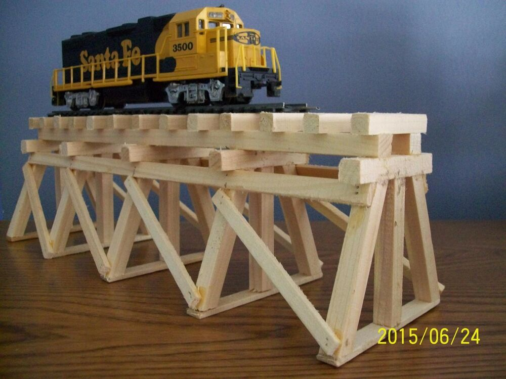 Ho Scale Wooden Trestle For Model Railroad Train Layouts