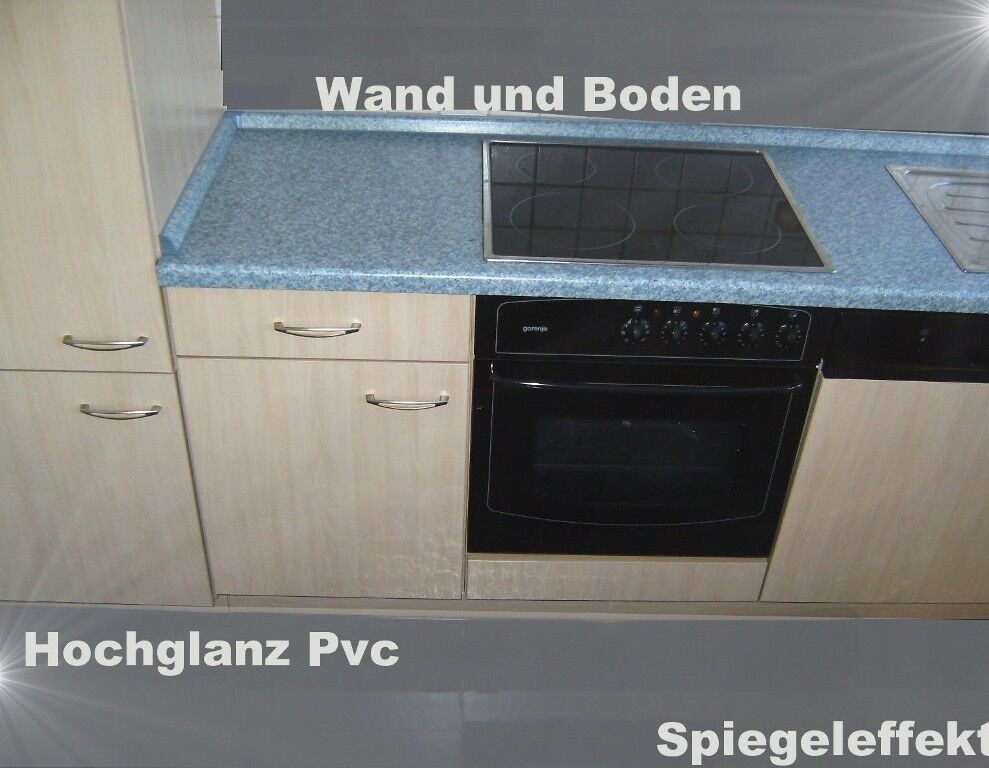 pvc bodenbelag hochglanz grau mit spiegelglanz 200 cm. Black Bedroom Furniture Sets. Home Design Ideas