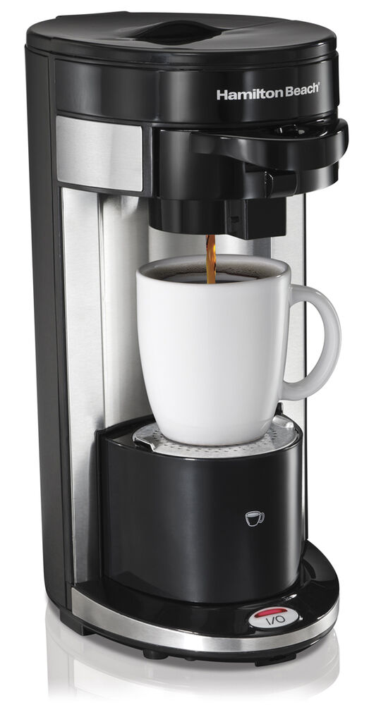 single cup coffee makers hamilton flexbrew single serve ground amp k cup coffee 12254