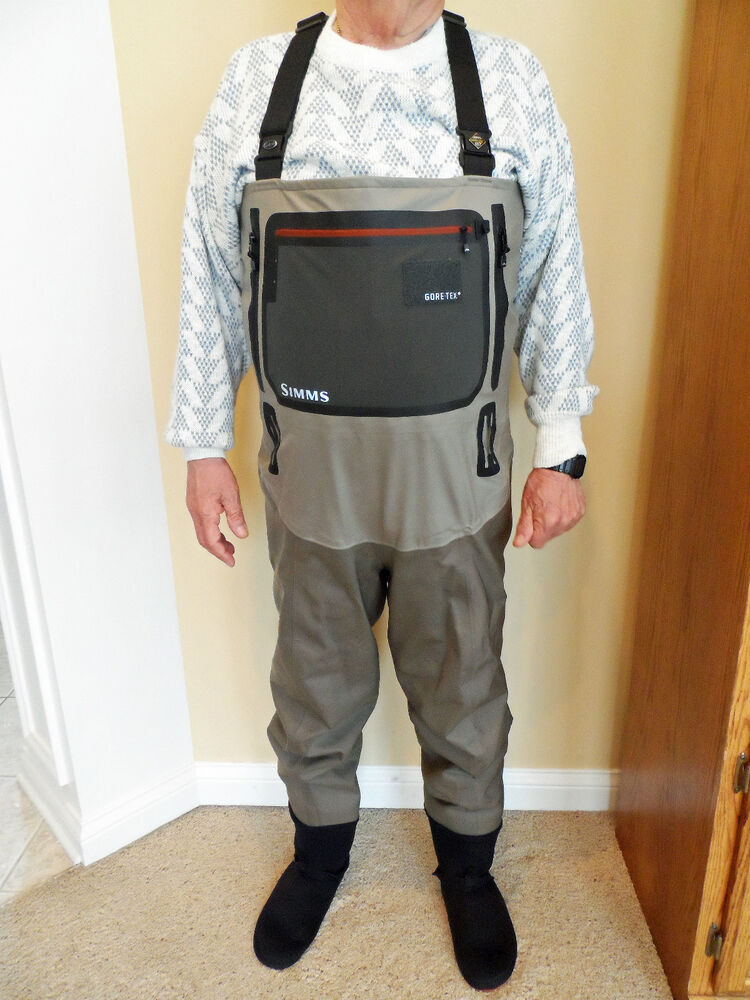 Simms men 39 s g4 pro stockingfoot gore tex chest waders for Simms fishing waders