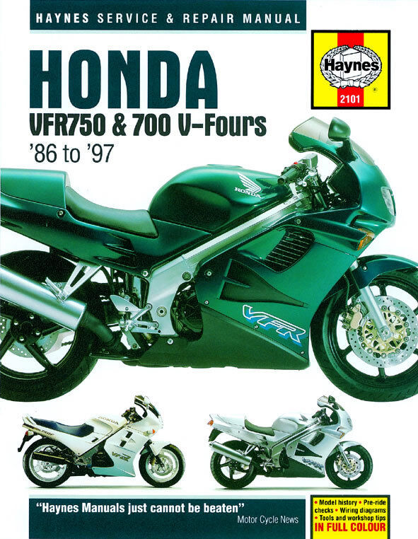 haynes manual 2101 honda vfr750 \u0026 700 v fours (86 97) workshop