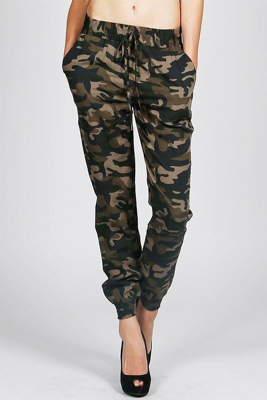 Perfect Women Camouflage Pants Camo Casual Cargo Joggers Military Army Harem Trousers | EBay