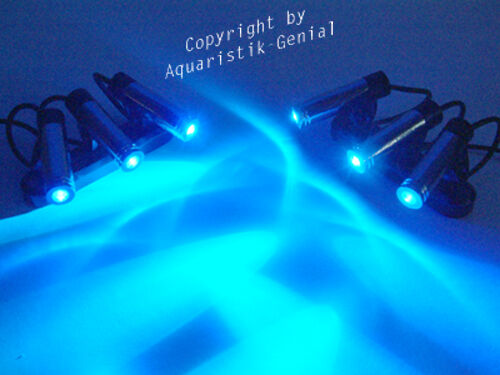 aquarium mondlicht led 6 fach spot dimmbar top ebay. Black Bedroom Furniture Sets. Home Design Ideas