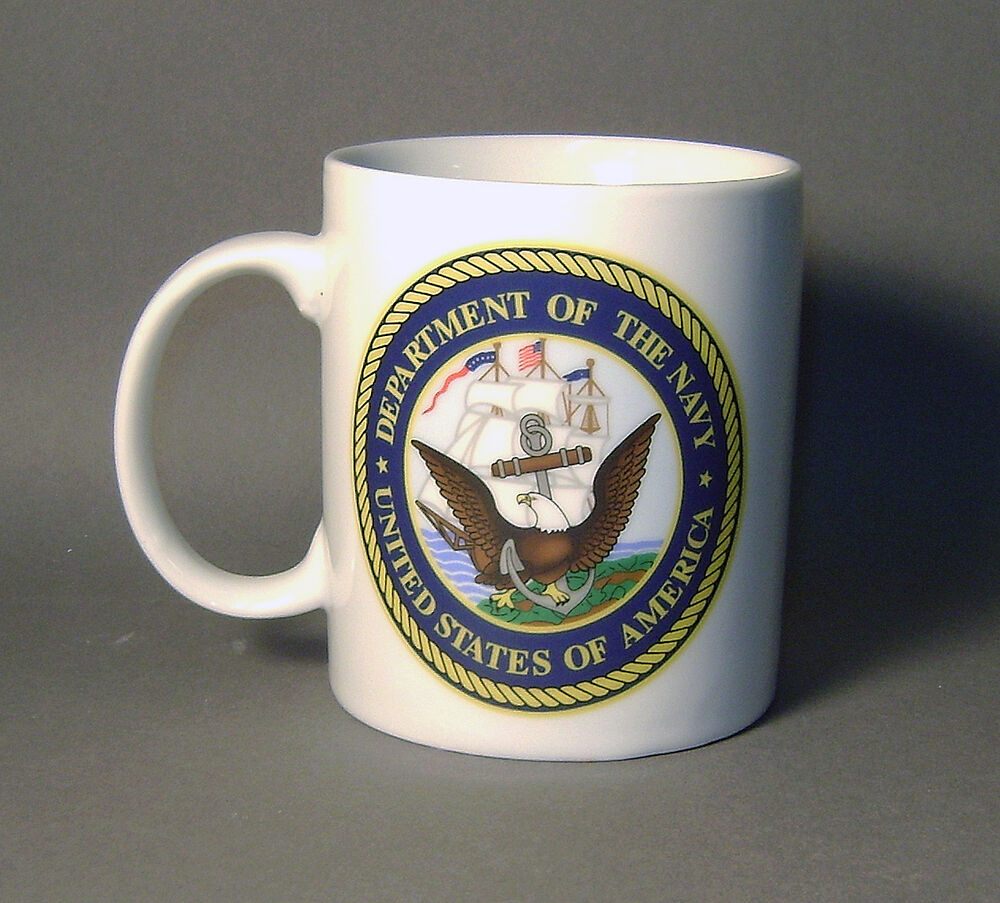 United States Navy Ceramic Coffee Mug With Navy Emblem Ebay