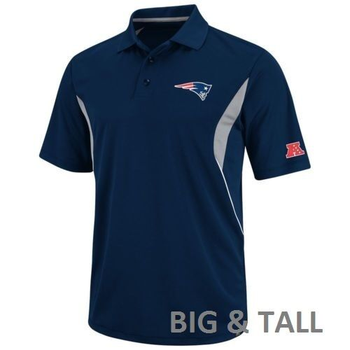 New England Patriots Navy Afc Polo Golf Shirt Nfl Big
