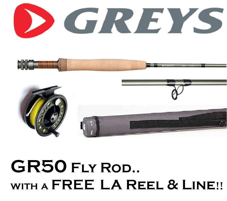 Greys gr50 fly fishing rod with free loaded fly reel for Fly fishing line