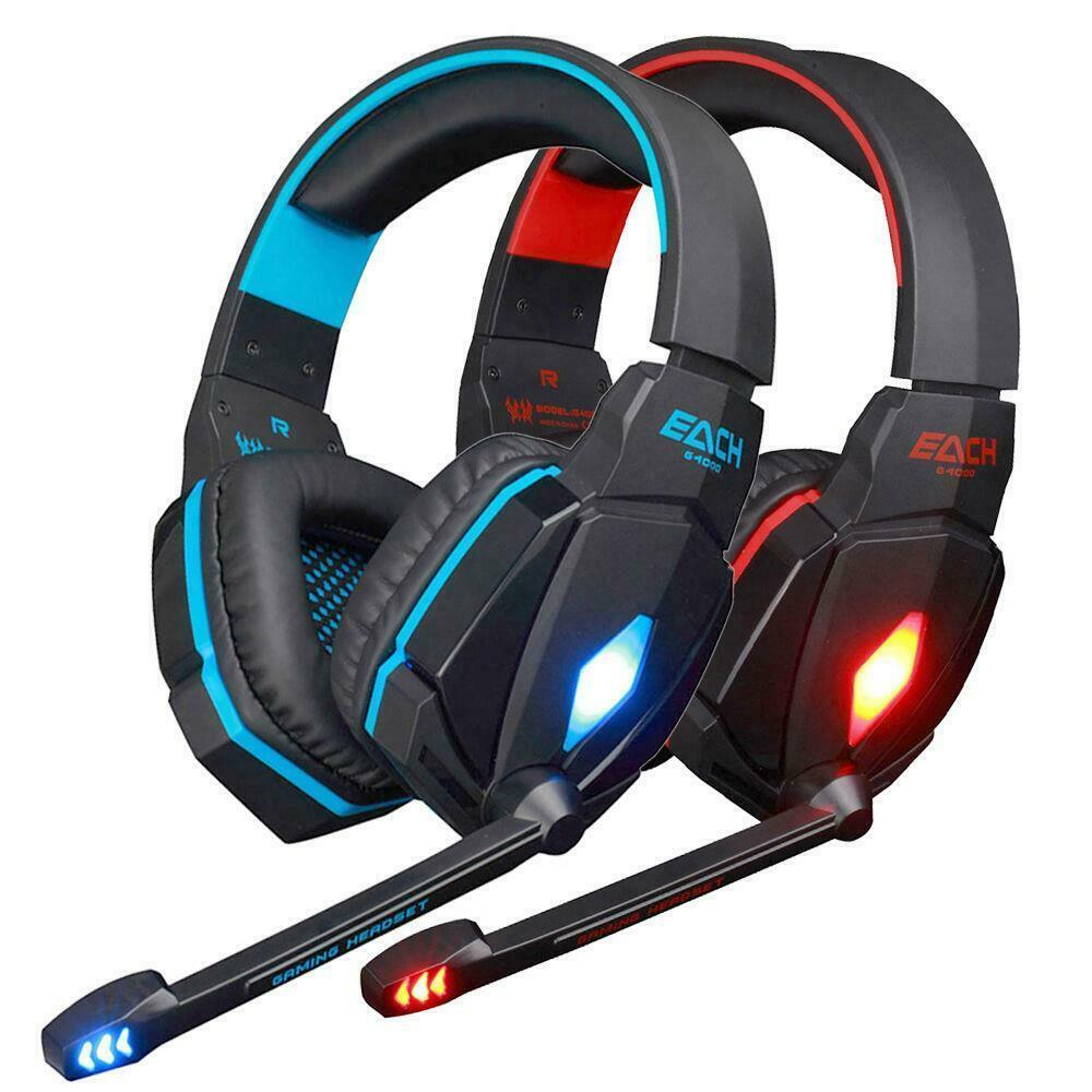 each g4000 pro game gaming headset led stereo pc. Black Bedroom Furniture Sets. Home Design Ideas