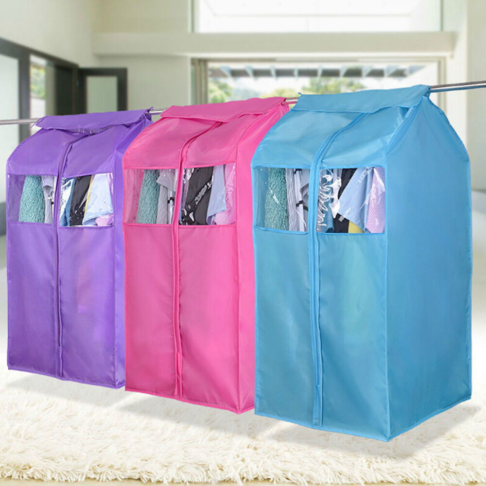 Oxford Cloth Hanging Garment Suit Coat Dust Cover Protector Wardrobe Storage Bag Ebay
