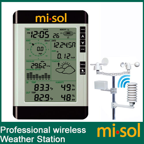 Pro Wireless Weather Station With Pc Connection Wind