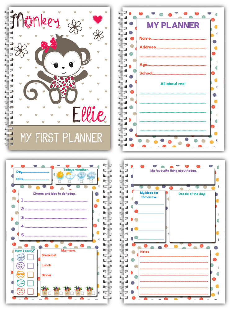Personalised kids daily planner my first planner 4 for For planner