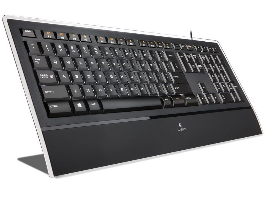 logitech k740 keyboard illuminated wired ultra slim usb perfectstroke key system ebay. Black Bedroom Furniture Sets. Home Design Ideas