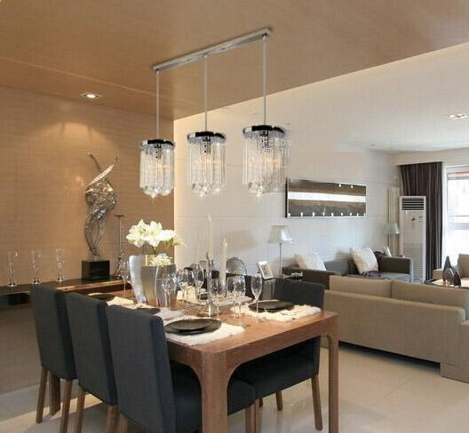 new modern lighting crystal bar ceiling light pendant lamp light kitchen led ebay. Black Bedroom Furniture Sets. Home Design Ideas