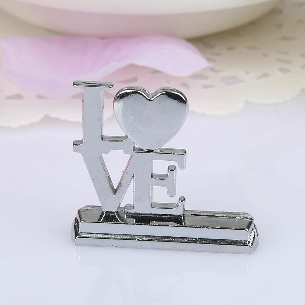 Love heart themed place card table number holder stand for Table number holders