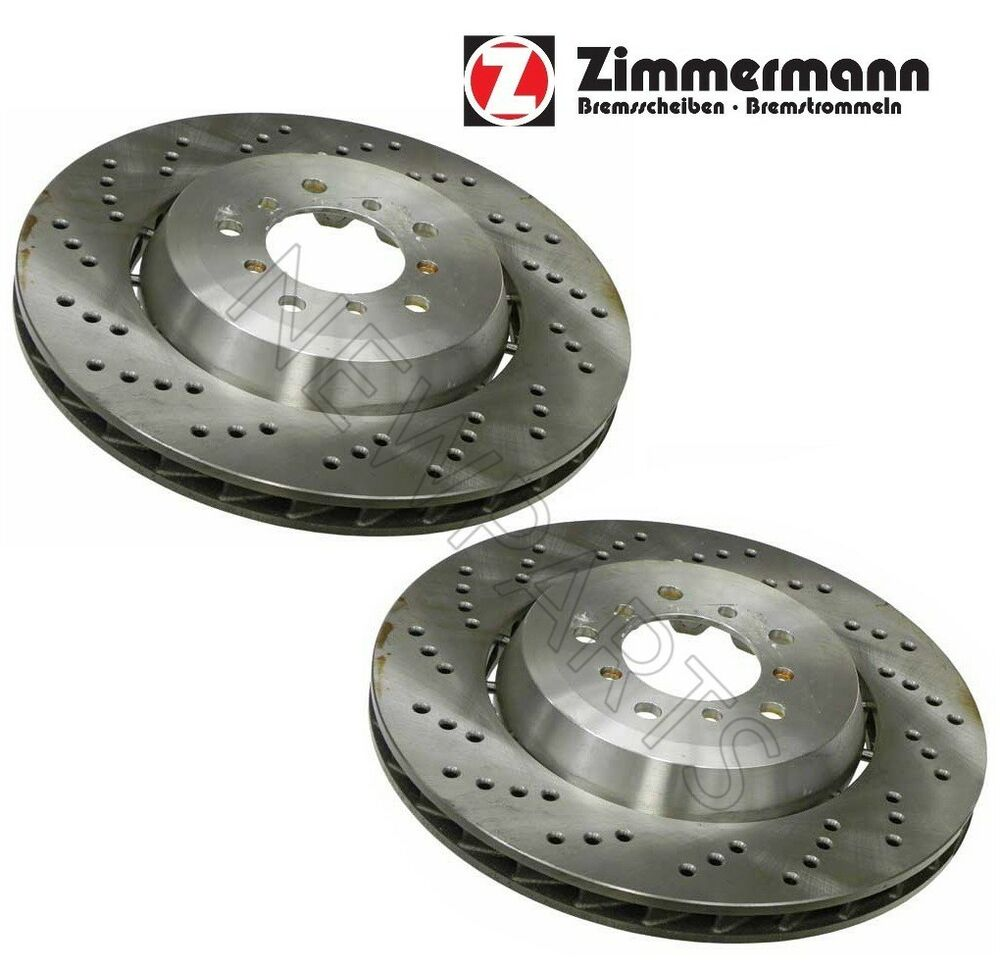 Bmw E46 M3 Z4m Brake Disc Front L R X2 Rotors Zimmermann