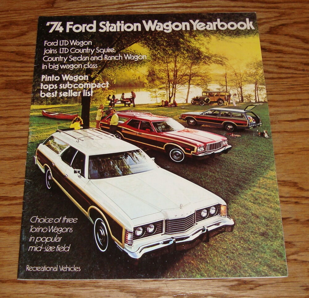 1974 Ford Pinto Lineup: Original 1974 Ford Station Wagon Yearbook Sales Brochure