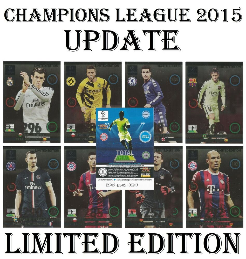 Champions League: Adrenalyn 2014/2015 UPDATE Champions League Panini LIMITED