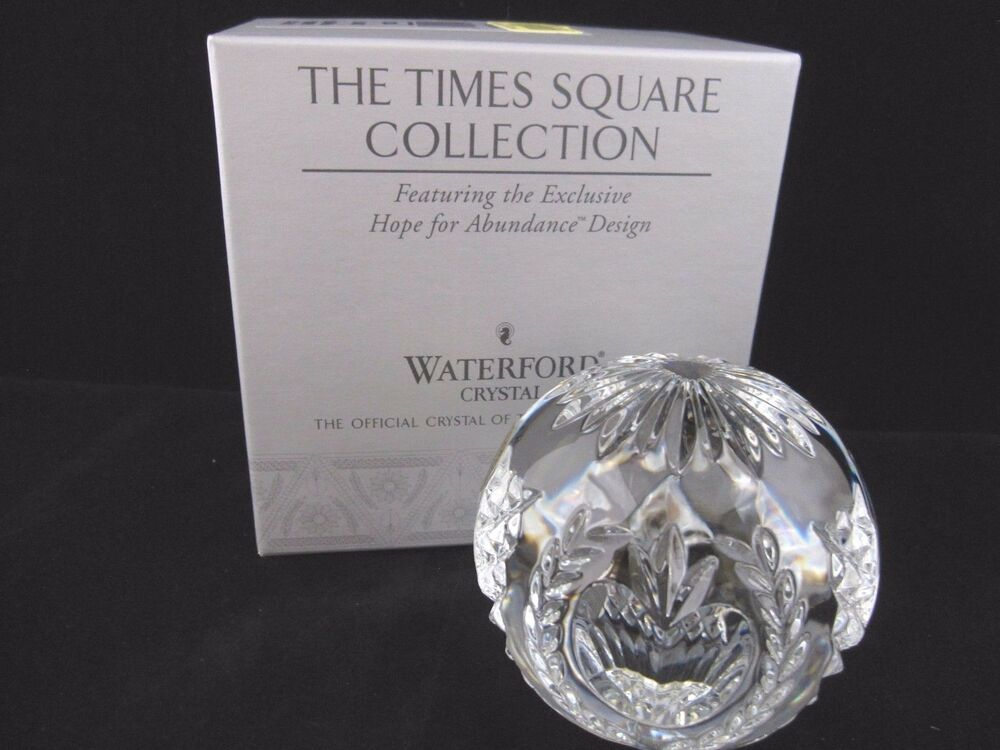 Waterford times square crystal ball paperweight 2001 hope - Waterford crystal swimming pool times ...