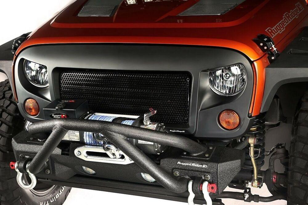 Rugged Ridge Spartan Angry Eyes Mesh Grill 07 17 Jeep