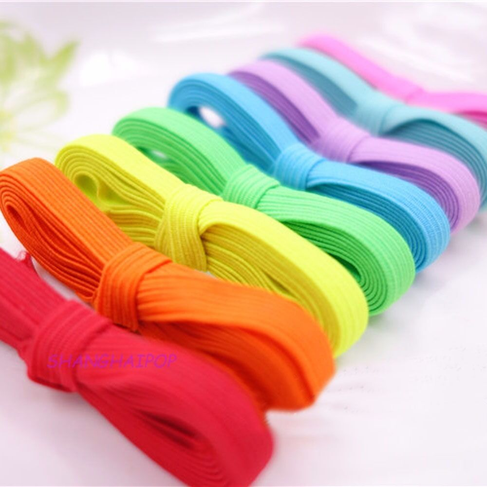 5m flat elastic band cord 6mm ribbon stretchy trim sewing for Craft ribbons and trims