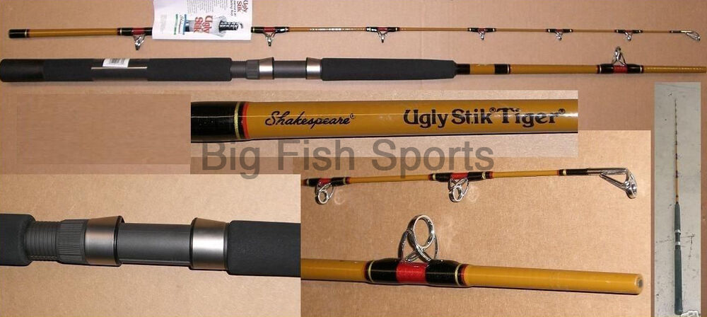 Ugly stik 7 39 tiger saltwater boat rod new stick for Ugly stick fishing rods