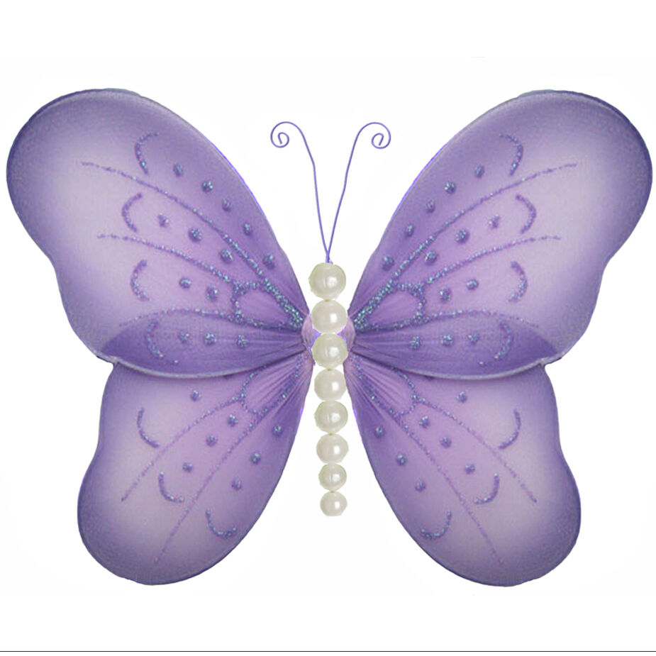Butterfly Decor Purple Lavender Decorate Walls Room