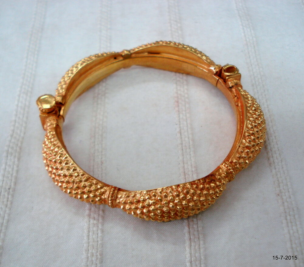 antique gold gilded silver bracelet bangle vintage gold