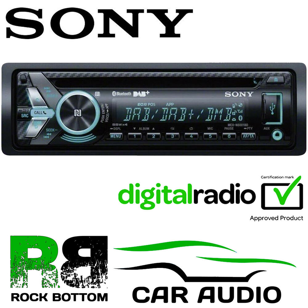sony mex n6000bd 55x4w dab bluetooth usb mp3 aux ipod car. Black Bedroom Furniture Sets. Home Design Ideas
