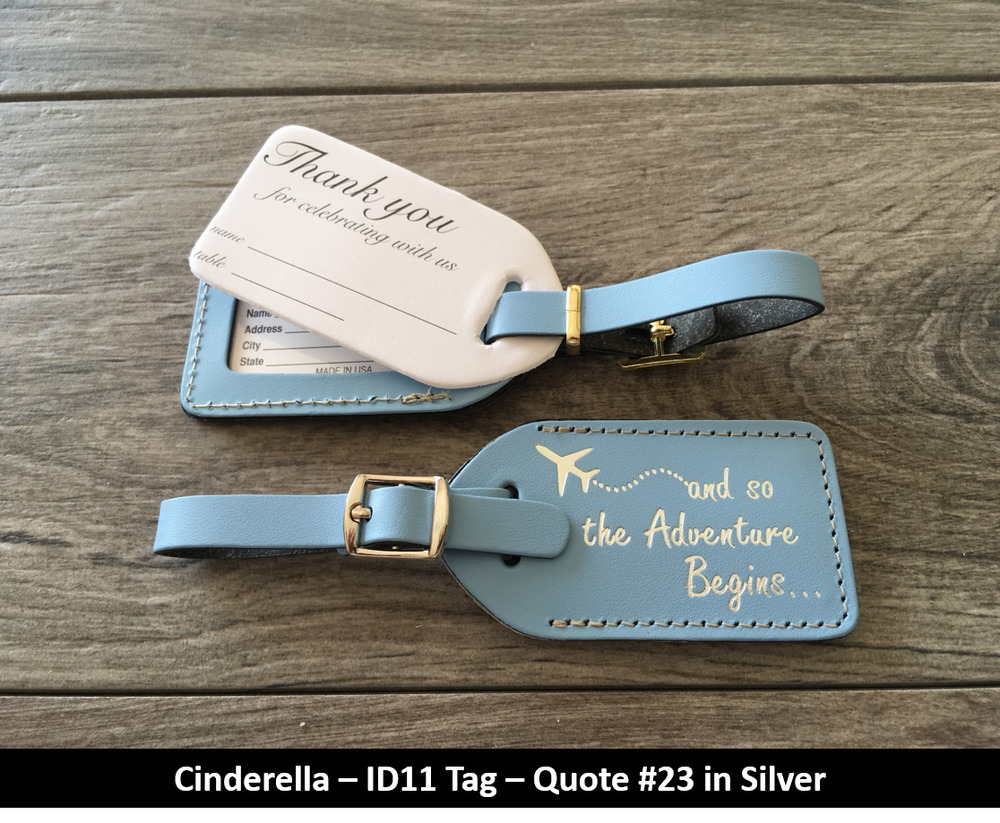 Wedding favor75 royal blue leather escort luggage tags for Wedding favor luggage tags