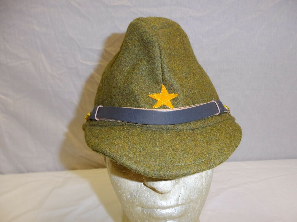 3afaf149922 Details about b0615 WWII Japanese Army EM   NCO OD Wool Field Cap W11D