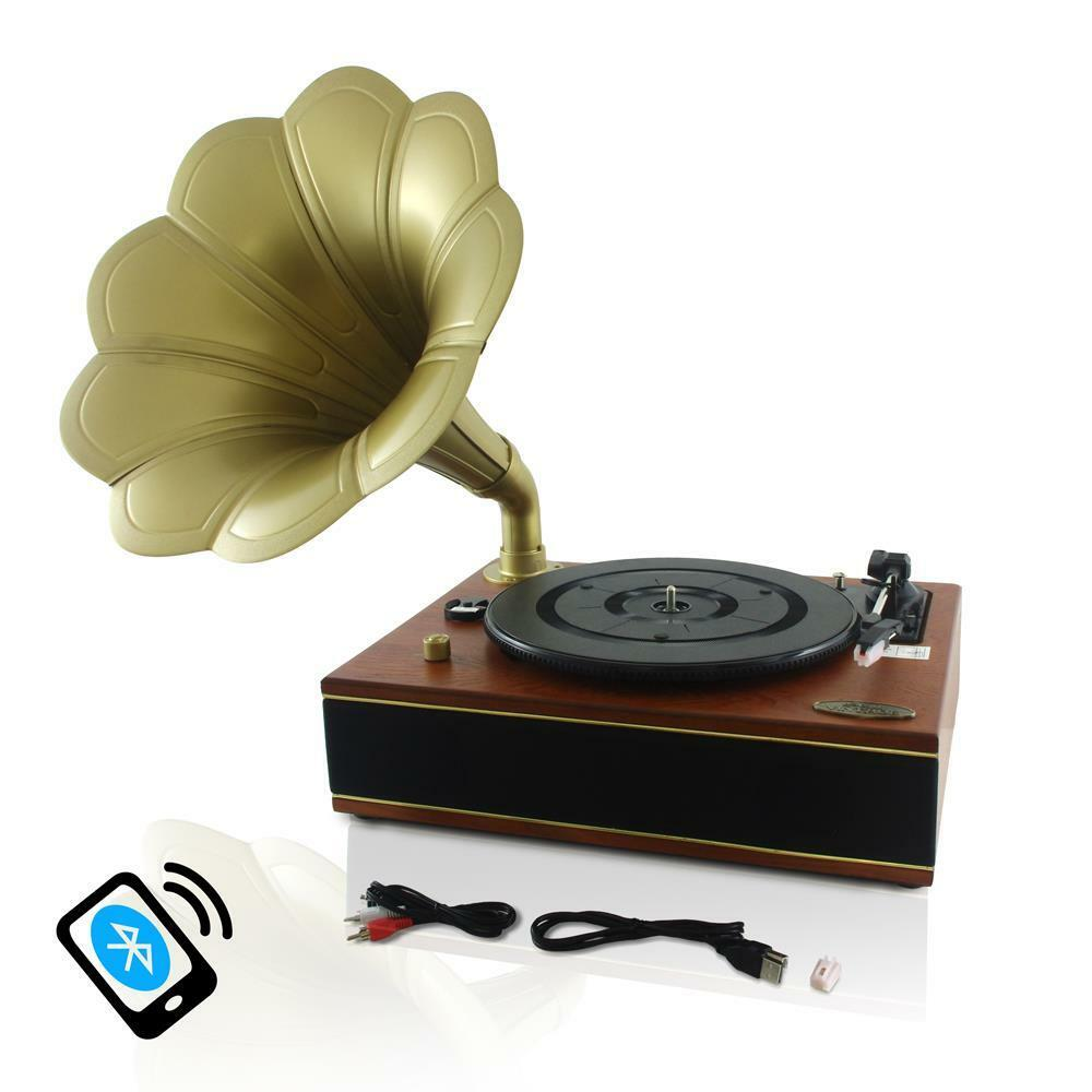 New Pyle Pngtt12rbt Bluetooth Turntable Gramophon