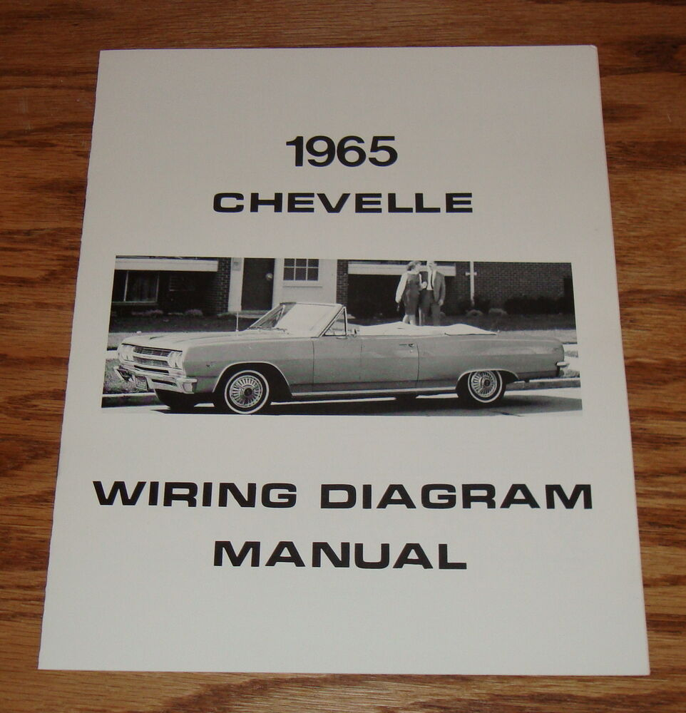 1965 chevrolet chevelle wiring diagram manual 65 chevy ebay. Black Bedroom Furniture Sets. Home Design Ideas
