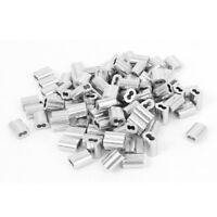 """1/16"""" Wire Rope Aluminum Sleeves Clip Fittings Cable Crimps 100 Pcs"""