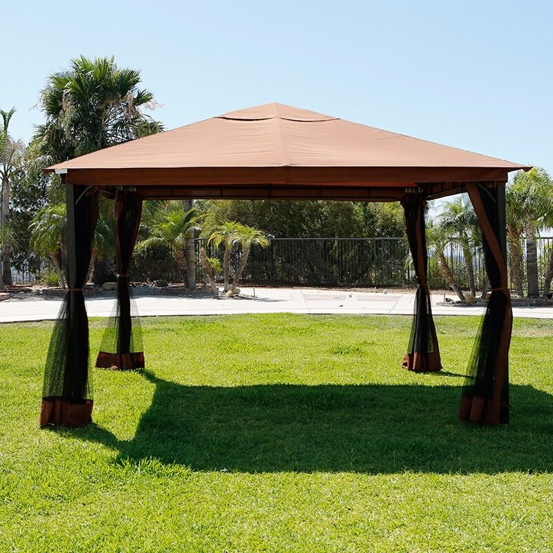 10' X 12' Regency Patio Canopy Gazebo Mosquito Net Netting