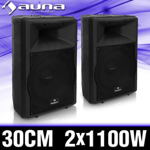 2x aktiv b hnen lautsprecher abs bass box 30cm subwoofer. Black Bedroom Furniture Sets. Home Design Ideas