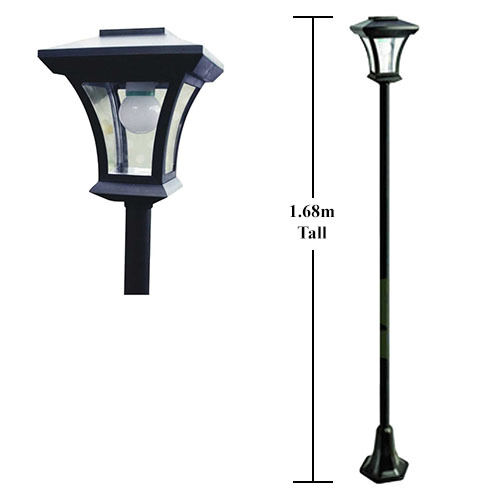 68m solar powered garden pathway lamp post led outdoor light bulb. Black Bedroom Furniture Sets. Home Design Ideas