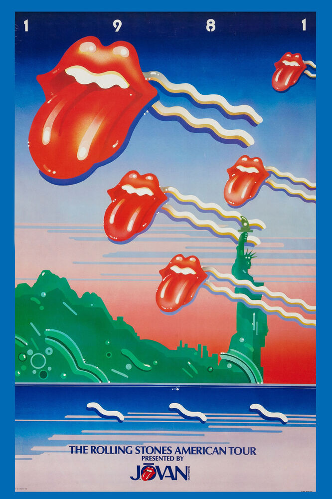 classic rock the rolling stones american tour poster 1981 promotional 13x19 ebay. Black Bedroom Furniture Sets. Home Design Ideas