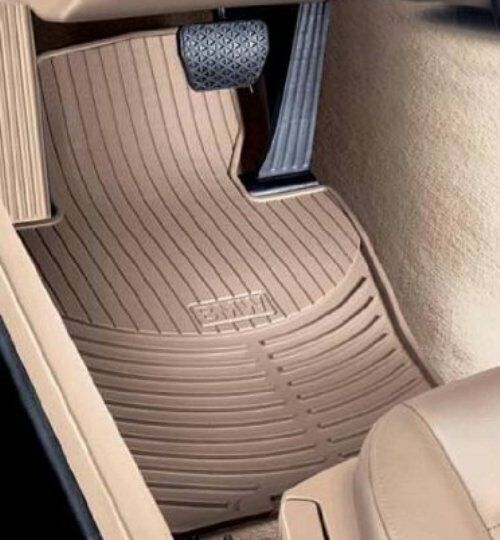 Bmw Z4 Floor Mats Beige: Floor Mat-All-Weather Rubber Floor Mats (Set Of Two) BMW