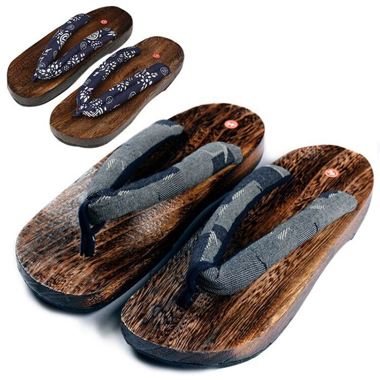 summer japanese wooden geta clogs shoes new slippers