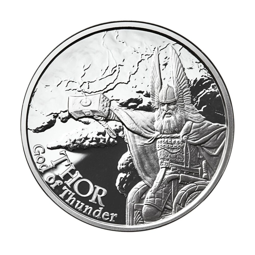 1 Oz Silver Coin Thor Valkyrie Norse God Series 2 In