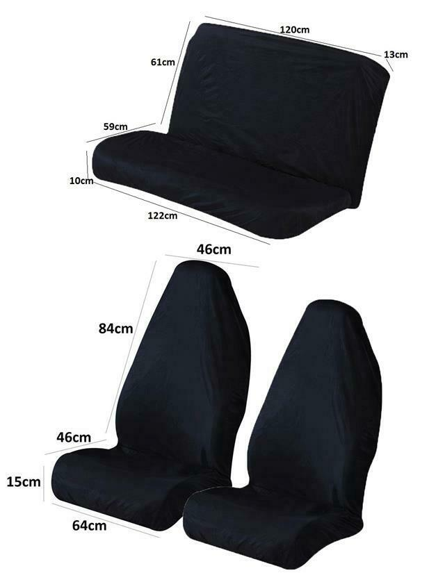 black full set of luxury comfortable washable car seat cover ebay. Black Bedroom Furniture Sets. Home Design Ideas