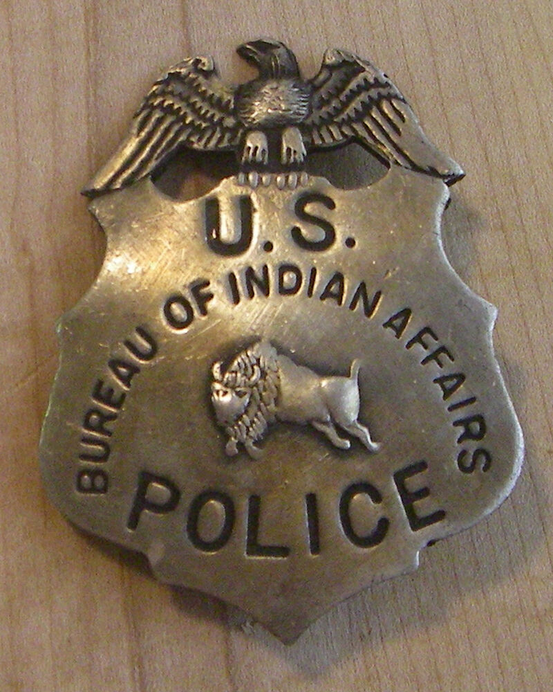 us police bureau of indian affairs badge bw 23 western sheriff marshal ebay. Black Bedroom Furniture Sets. Home Design Ideas