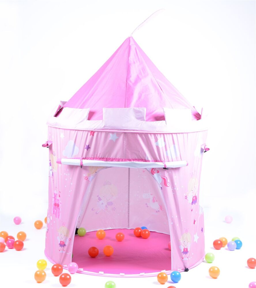 pink fairy tale princess castle childrens pop up play tent. Black Bedroom Furniture Sets. Home Design Ideas
