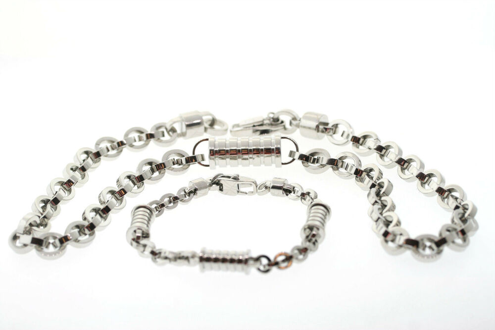 shaquille o neal 13mm stainless steel barrel link necklace