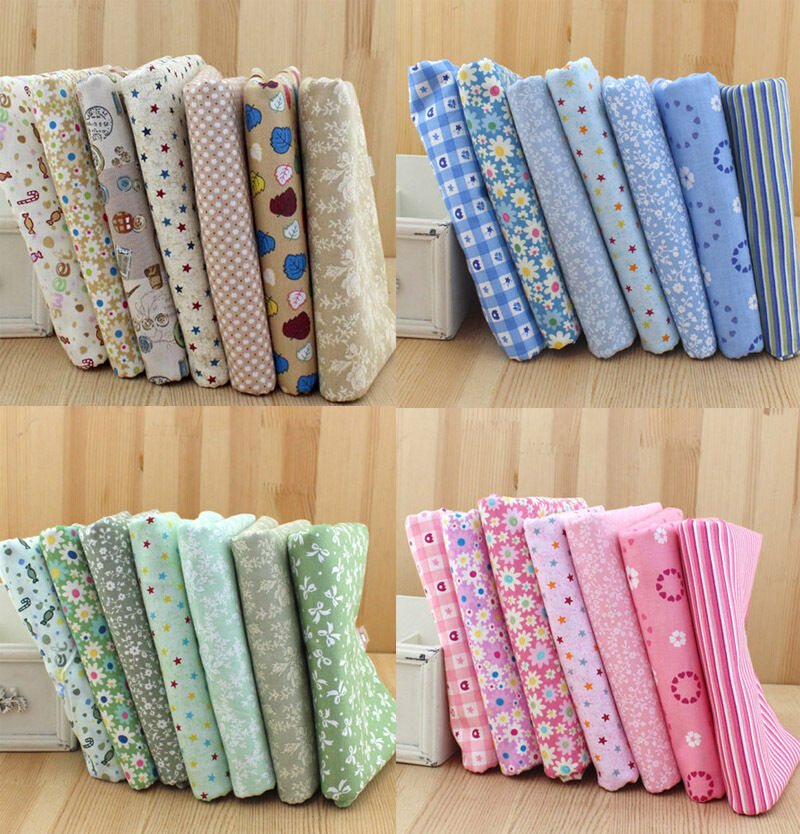 Hot wholesale series 7 pcs pre cut plain cotton quilt for Cheap sewing fabric