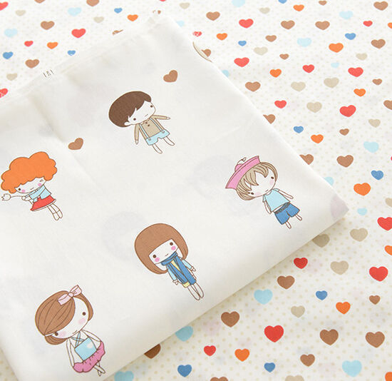One PCS Cotton Fabric Pre-Cut Quilt cloth Fabric for Sewing Love Pattern eBay