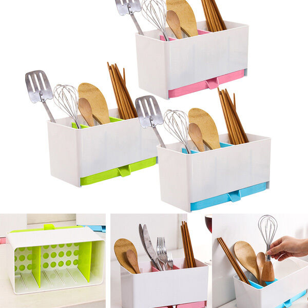 kitchen tool organizer plastic utensil holder rack organizer spoon chopsticks 3370