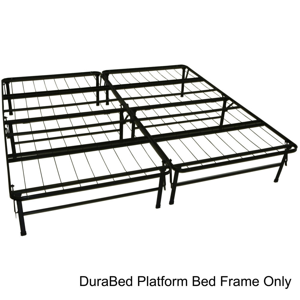 Durabed king size heavy duty steel foundation frame in for King size bed frame and mattress