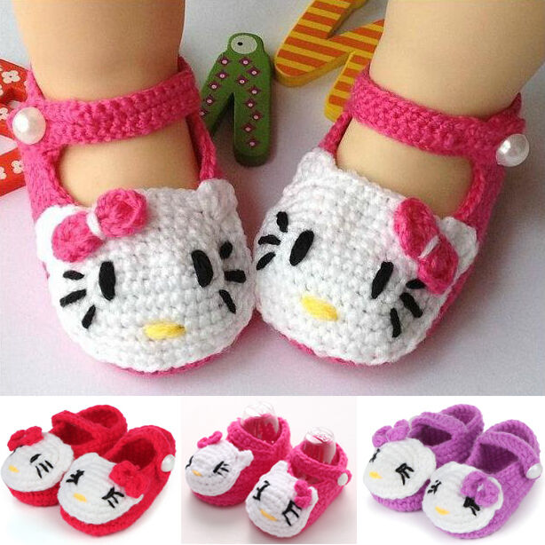 Baby Knitting Shoes Products : Handmade lovely newborn baby girls crochet knitting